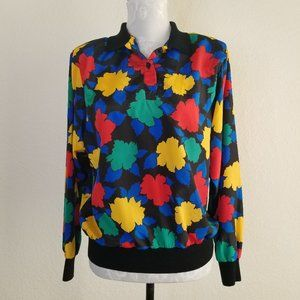 Vintage 80s Abstract Career Blouse